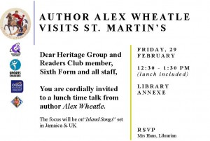 Invite to 6th form author event
