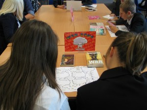 Pupils playing the Reading Game from Carel Press