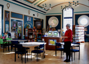 War Memorial school library, Bromley