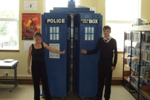 School library Tardis