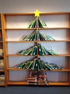 Bookshelf Christmas tree